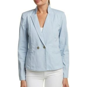 CAbi blue double button blazer jacket Sz 6 bh039